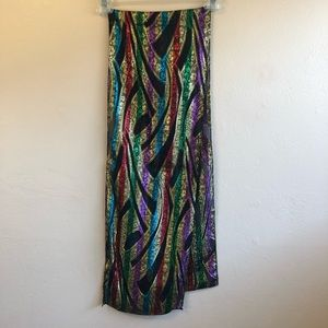 NWT Vintage Berkshire Metallic Multicolored Scarf
